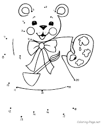 Connect The Dots Or Printable Dot To Coloring Pages For Kids