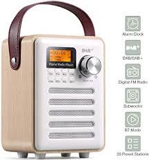 dab radios dab dab radio alarm clocks bedside digital radio fm bt portable radio alarm clock wood effect rechargable battery subwoofer premium stereo