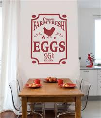 Farm Fresh Eggs Vinyl Decal Wall Stickers Letters Words Chicken Kitchen Decor