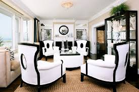 Cozy Black And White Chairs Living Room Sophistication Black And