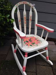 Lily And Butterfly Themed Rocking Chair For Child. Hand ... Personalized Rocking Chairs Childrens For Kids Il Tutto Bambino Clara Chair In Grey Moon Natural Wooden Legs Amazoncom Mybambino Girls With Name Only Pretty Painted A Beautiful Baby Gift Patio At Lowescom 10 Best Rocking Chairs The Ipdent Maxie Reviews Joss Main Eames Rar Chair Upholstered Pale Rosecognac Custom Ordered Princess Tu Little Girl Personalised