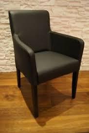 details zu schwarz echt leder esszimmerstühle mit armlehnen stuhl sessel stühle lederstühle
