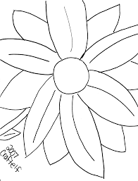35 Collections Of Free Coloring Pictures Flowers