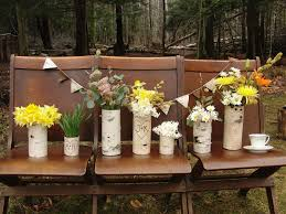 Rustic Country Wedding Flowers Ideas Combined With Beautiful Yellowflowers Arrangements In