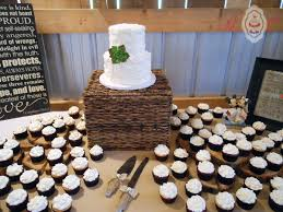 Wedding Cupcake Tower Rough Palette Knife Buttercream With Succulent And Swirled Cupcakes