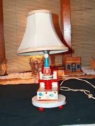 Underwriters Laboratories Lamps Antique by Vintage Childrens Clown In A Box Lamp With Original Lamp Shade