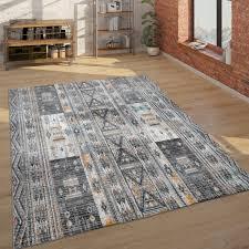 teppich ethno design 3 d look wohnzimmer beige