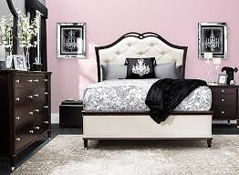 Raymour And Flanigan White Headboard by Valentina 4 Pc Queen Bedroom Set Ivory Merlot Raymour