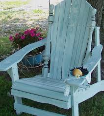 Navy Blue Adirondack Chair Cushions by Vintage Shabby Milk Painted White Wash Over Blue Adirondack