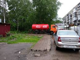 Sewer Truck CAca-cola (~shit Cola) In Perm, Russia : Pics