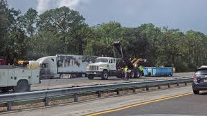 FHP: Semi Driver Dies In Fiery Pileup On I-95 In Flagler County