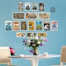 diy vintage briefmarken wand aufkleber retro porto stadt reise wand abziehbilder schlafzimmer sofa wohnzimmer schrank tür tapete wohnkultur