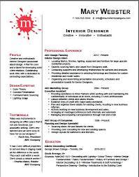 Interior Design Resume Template Word Cv For Designer Sample Amypark