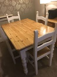 Solid Pine Table And Chairs In DA17 Bexley For £140.00 For Sale - Shpock Kids Table And Chairs In Pine Woodnatural Kids 60 X 2 Kaubystorns Table 6 Chairs Antique Stain 201 Cm Ikea Rustic Seats 10 Recycled Reclaimed Wood With Natural Ikayaa Modern 5pcs Pine Wood Ding Set Kitchen Dinette Amazoncom Hcom 5 Piece Solid High Back Pcs Wunderbar Sheesham 8 Round Grey Side Silk Decor Elegant Bench For Inspiring Bedroom Fniture 4 White Natural Sold Annika Bistro Two Noa Nani Signature Design By Ashley Grindleburg 7 Rectangular 4d Concepts Urban Loft 3piece Breakfast