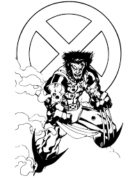 Marvel Comics Wolverine Superhero Coloring Page