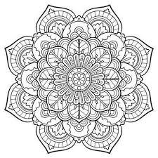 Mandala Vintage coloring page Nice printable adult coloring