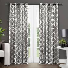 Moroccan Lattice Curtain Panels by Ati Home Kochi Linen Blend Grommet Top Curtain Panel Pair Free
