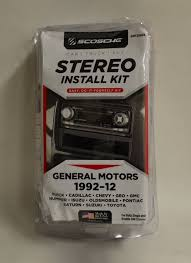 100 Truck Stereo Scosche GMT2049A Black Install Kit General Motors 19922012