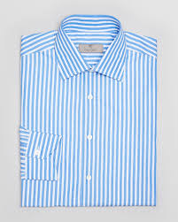 canali fine stripe dress shirt contemporary fit in blue for men lyst