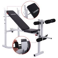 JAXPETY Adjustable Weight Bench Barbell Incline Flat Lifting