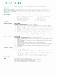 Exceptional Resume Objective Examples 911 Dispatcher Elegant Pdf Short