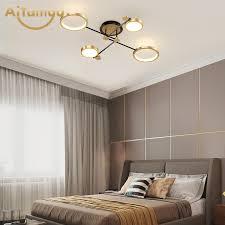 moderne nordic led deckenleuchte für wohnzimmer gold schwarz