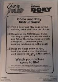 New Disney Dory Color And Play Come To Life In 3d Coloring Bookfree Shipping