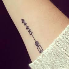 A Simple Arrow Tattoo On Inner Wrist Photo