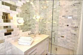 Beveled Tile Inside Corners by Marble And White Subway Bathroom Shower Beveled Tile Stuning