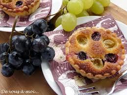 dessert aux raisins frais de vous à moi tartes amandines aux raisins