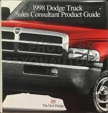 100 Dodge Truck Sales 1998 Guide Dealer Album Ram 15003500 Pickup