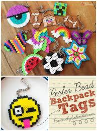Perler Bead Backpack Tags