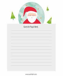 Carta De Papá Noel Para Descargar E Imprimir Gratis Manualidades