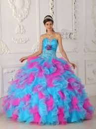 newest multi colored ball gown sweetheart tulle prom pageant dresses