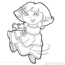 Coloring Page Dora Book