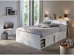 conforama chambre adulte lit adulte 140x190 cm belem coloris blanc vente de lit adulte