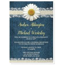 Daisy Burlap And Lace Denim Reception Only Invitations