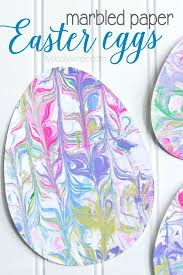 With Just A Few Supplies Make This Fun Easter Egg Craft Using Marbled Paper