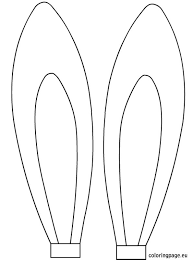 Easter Bunny Face Template 12