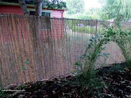 Decorative Garden Fence Home Depot by Diy Beautify A Chain Link Fence With Bamboo Our Fairfield
