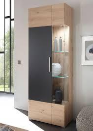 space vitrine standvitrine 72cm artisan cosmos grey perfekt touch wohnzimmer modern