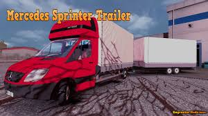100 Gta 5 Trucks And Trailers Mercedes Benz Sprinter Trailer For ETS 2 Download Simulator Mods