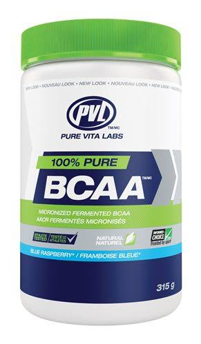 PVL 100% Pure BCAA - Blue Raspberry, 300g