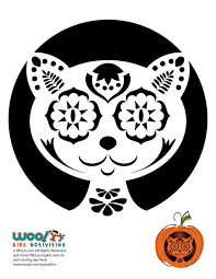 Day Of The Dead Pumpkin Carving Patterns by Day Of The Dead Cat Carving Pattern Woo Jr Kids Activities