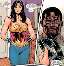 Finally He Attempted To Reintroduce The Saucier Aspects Of Wonder Woman Like Amazonian Lesbianism And Themes Bondage