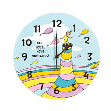 Wayfair Decorative Wall Clocks by Dr Seuss Kid You U0027ll Move Mountains Wall Clock Trend Lab