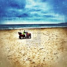 100 Canford Cliffs Beach Warden On Buggy At Beach Poole License