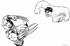 Hulk Vs Wolverine Coloring Pages