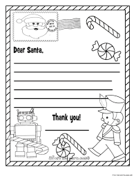 Coloring Pages Clip Art Christmas List Page Breadedcat In Wish
