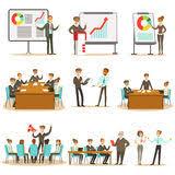 dessin animé de formation d affaires illustration de vecteur